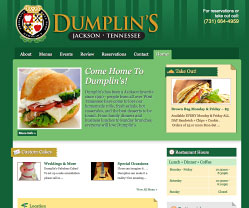 Dumplins Restaurant Website